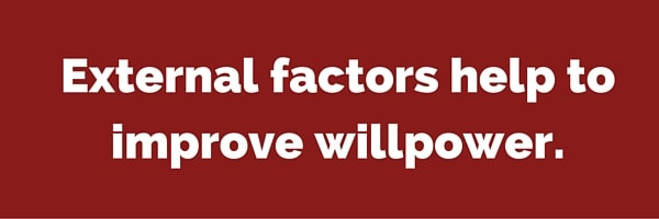 External factors help to improve willpower